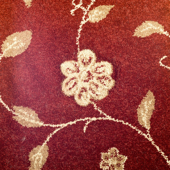 Carved Finesse by Fells Carpets Burgundy
