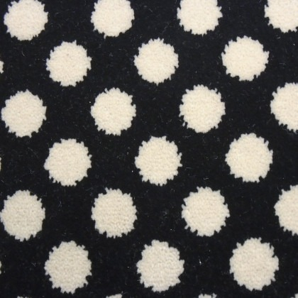 Quirky B Collection - Spotty Black 7140 by Alternative Carpet