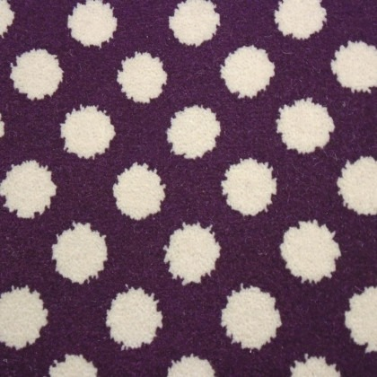 Quirky B Collection - Spotty Damson 7141 by Alternative Carpet